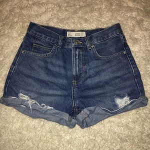 Topshop high waisted denim shorts!!